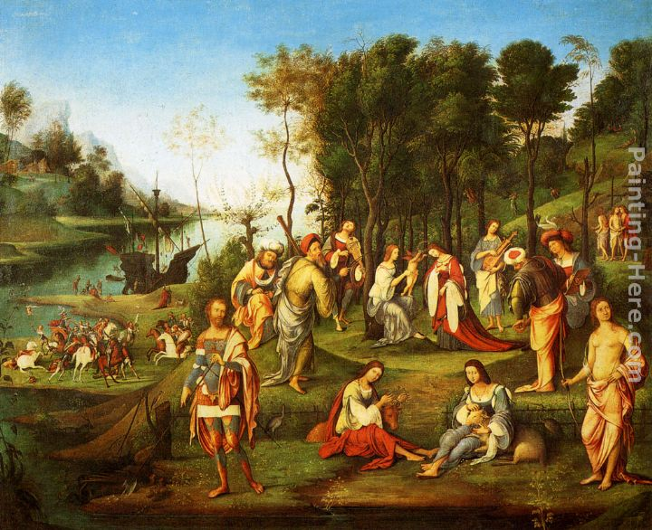 The Garden Of The Peaceful Arts painting - Lorenzo Costa The Garden Of The Peaceful Arts art painting